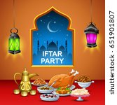 delicious dishes for iftar party | Shutterstock . vector #651901807