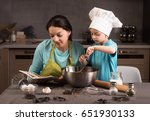 happy family in the kitchen.... | Shutterstock . vector #651930133