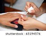 cosmetician hands  making... | Shutterstock . vector #65194576