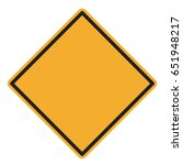 blank yellow road sign | Shutterstock .eps vector #651948217