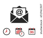 mail icon  | Shutterstock .eps vector #651961507