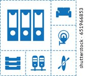 row icon. set of 6 row filled... | Shutterstock .eps vector #651966853
