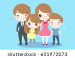 cute cartoon family smile... | Shutterstock .eps vector #651972073