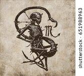 scorpio horoscope sign ... | Shutterstock . vector #651988963