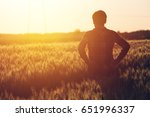 concerned female agronomist... | Shutterstock . vector #651996337