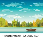 Vector Autumn Landscape With...