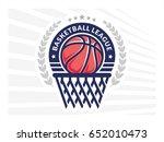 basketball league logo  emblem  ...   Shutterstock .eps vector #652010473