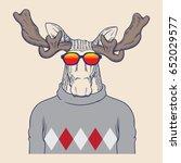hipster animal illustration | Shutterstock .eps vector #652029577