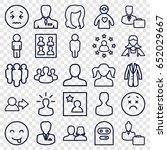 avatar icons set. set of 25...   Shutterstock .eps vector #652029667