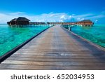 beautiful tropical maldives... | Shutterstock . vector #652034953