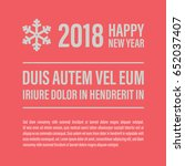 happy new year banner in a... | Shutterstock .eps vector #652037407