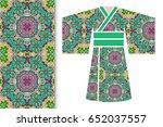 vector fashion illustration ... | Shutterstock .eps vector #652037557