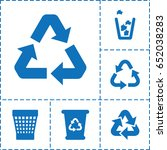reuse icon. set of 6 reuse...   Shutterstock .eps vector #652038283