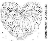 pattern for coloring with... | Shutterstock .eps vector #652051333