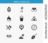 set of 12 editable trip icons....