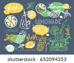 hand drawn doodle summer...   Shutterstock .eps vector #652094353