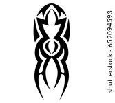 tattoo tribal vector design.... | Shutterstock .eps vector #652094593