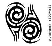 tribal tattoo art designs.... | Shutterstock .eps vector #652094653