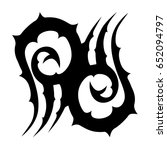 tribal tattoo art designs.... | Shutterstock .eps vector #652094797