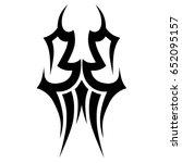 tattoo tribal vector designs.... | Shutterstock .eps vector #652095157