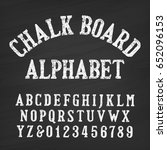 hand drawn chalk board alphabet ... | Shutterstock .eps vector #652096153