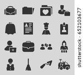job icons set. set of 16 job... | Shutterstock .eps vector #652103677