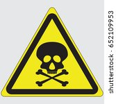 skull danger sign | Shutterstock .eps vector #652109953