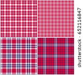 red white blue plaids  | Shutterstock .eps vector #652116847