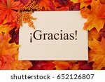 spanish thank you greeting card ... | Shutterstock . vector #652126807