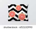 realistic pillows with... | Shutterstock .eps vector #652132993