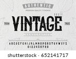 font. alphabet. script.... | Shutterstock .eps vector #652141717