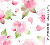 seamless floral pattern with...   Shutterstock . vector #652141747