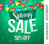 spring sale vector design with... | Shutterstock .eps vector #652148347