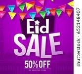 eid sale vector design in... | Shutterstock .eps vector #652148407