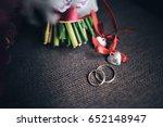 beautiful modern wedding... | Shutterstock . vector #652148947