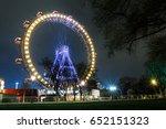 Lighting Ferris Wheel At Night...