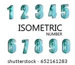geometric background. 3d... | Shutterstock .eps vector #652161283
