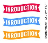introduction. ribbon icon set.... | Shutterstock .eps vector #652194547
