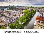 utrecht city from top. general... | Shutterstock . vector #652200853