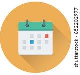 calendar vector icon   Shutterstock .eps vector #652202977