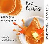 restaurant best breakfasts... | Shutterstock . vector #652211713