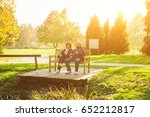 beautiful smiling senior couple ... | Shutterstock . vector #652212817