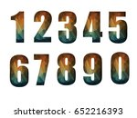 number geometric design on... | Shutterstock .eps vector #652216393