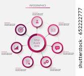circular infographics in pink... | Shutterstock .eps vector #652222777