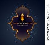 illustration of ramadan kareem... | Shutterstock .eps vector #652232173