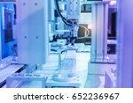 industrial robot with vacuum... | Shutterstock . vector #652236967