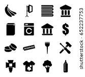 nobody icons set. set of 16... | Shutterstock .eps vector #652237753