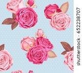 beautiful roses seamless | Shutterstock .eps vector #652238707