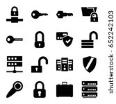 lock icons set. set of 16 lock... | Shutterstock .eps vector #652242103