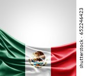 mexico flag of silk with... | Shutterstock . vector #652246423